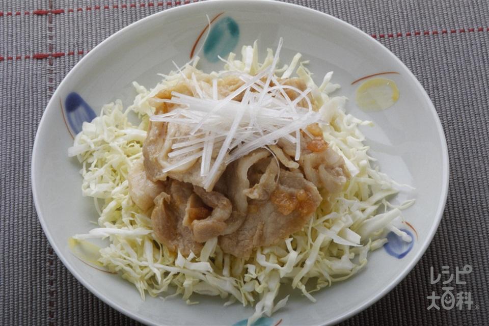 豚肉の梅肉蒸し(豚薄切り肉+キャベツを使ったレシピ)