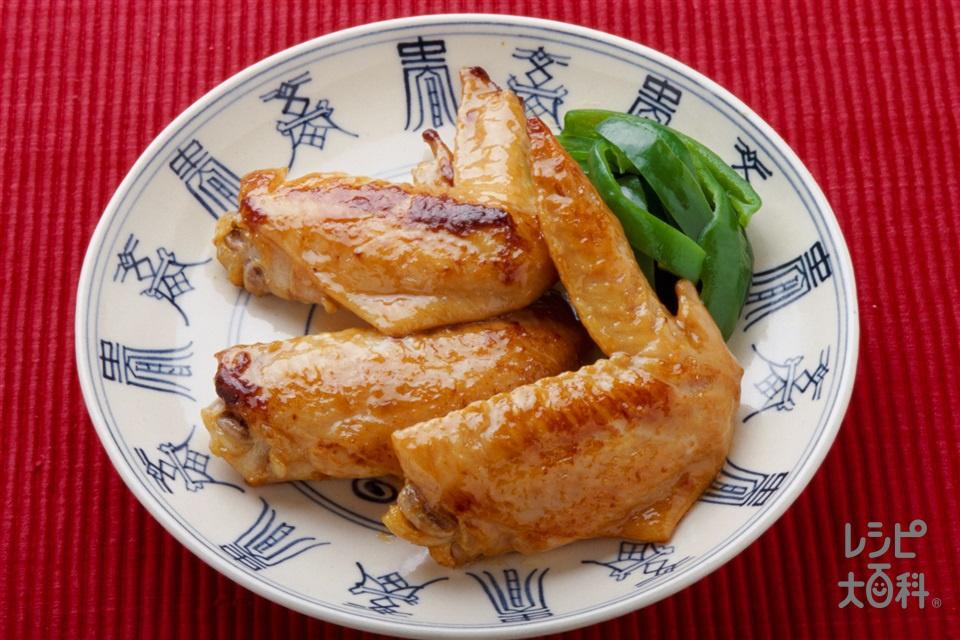 手羽先とピーマンの中国風照り焼き(鶏手羽先+ピーマンを使ったレシピ)