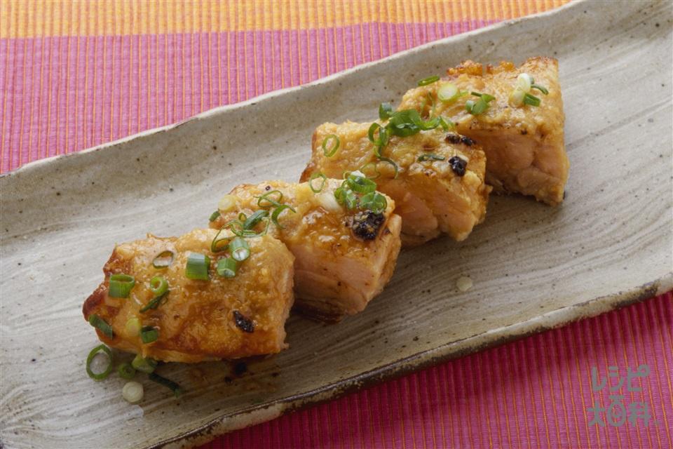 鶏の韓国風みそ焼き(鶏もも肉+小ねぎの小口切りを使ったレシピ)