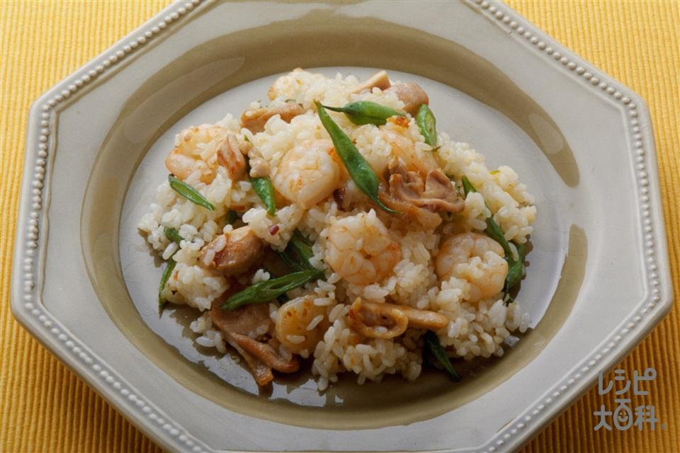 焼き飯 タイ風(ご飯+鶏もも肉を使ったレシピ)