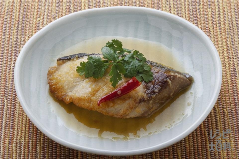 ぶりの煮つけエスニック風(ぶり+A赤唐がらし(乾)を使ったレシピ)