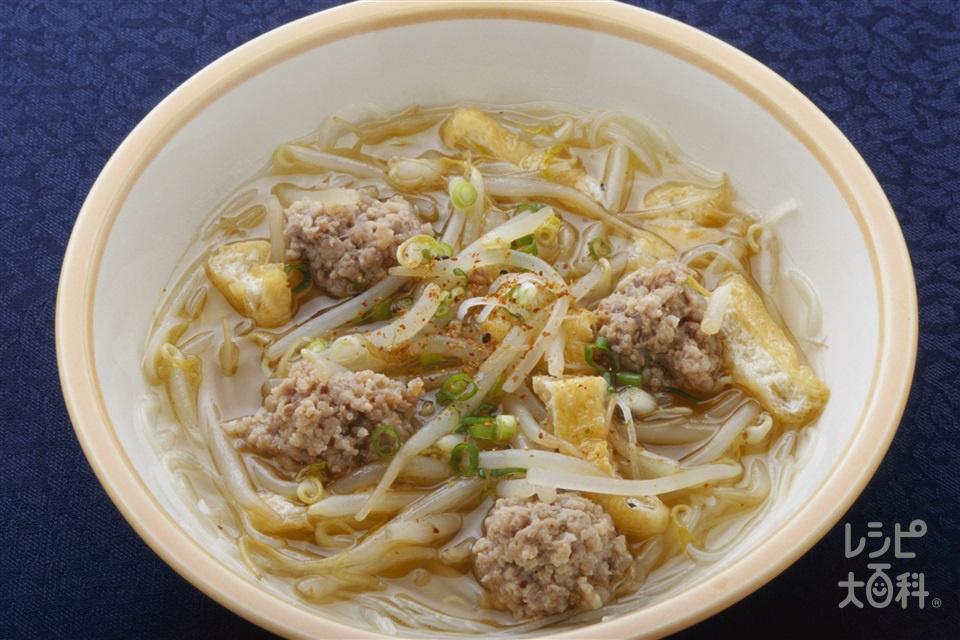 タイ風汁めん(豚ひき肉+もやしを使ったレシピ)