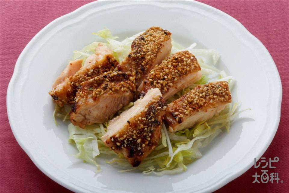 スパイシーセサミチキン(鶏もも肉+ねぎを使ったレシピ)