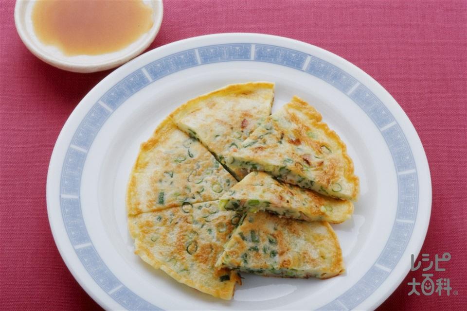 チャイニーズピザ(小麦粉+卵を使ったレシピ)