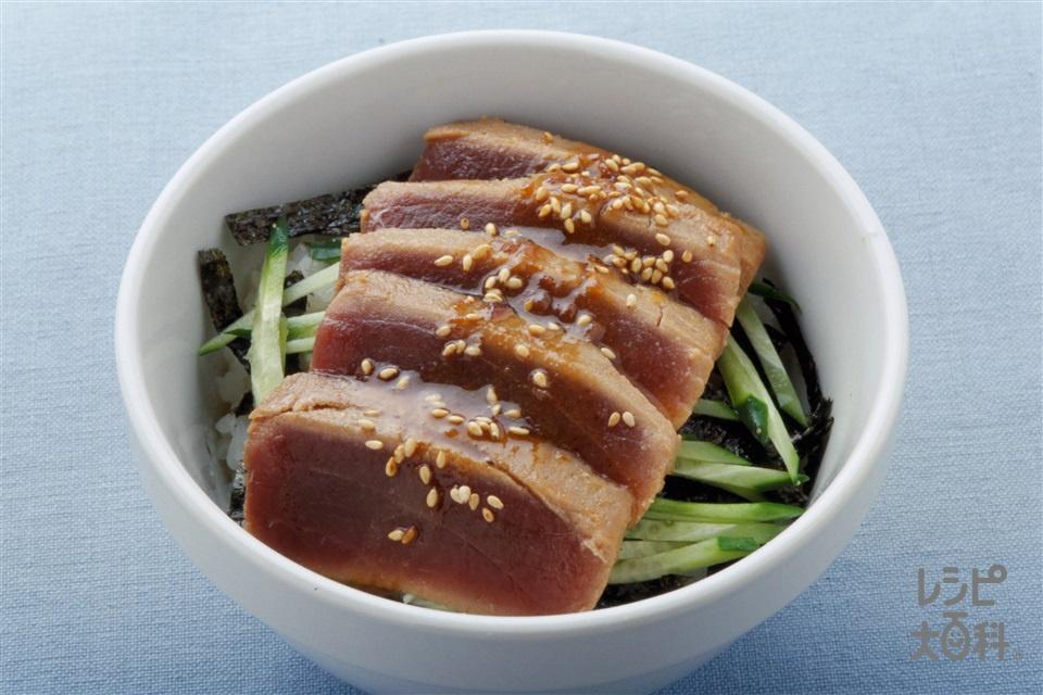 ガーリック風味のまぐろ丼(ご飯+まぐろを使ったレシピ)