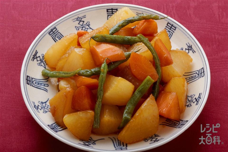 大根の中国風炒め煮(大根+にんじんを使ったレシピ)