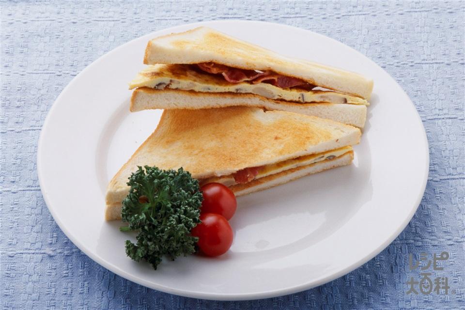 きのこオムレツサンド(食パン+卵を使ったレシピ)