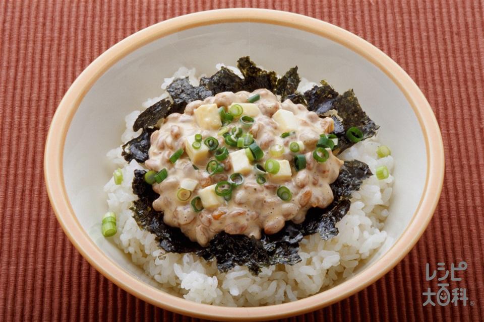 洋風納豆丼