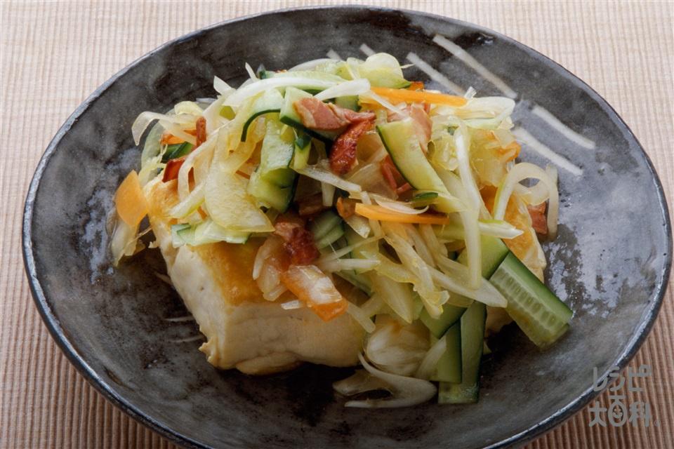 豆腐ステーキ(木綿豆腐+玉ねぎを使ったレシピ)