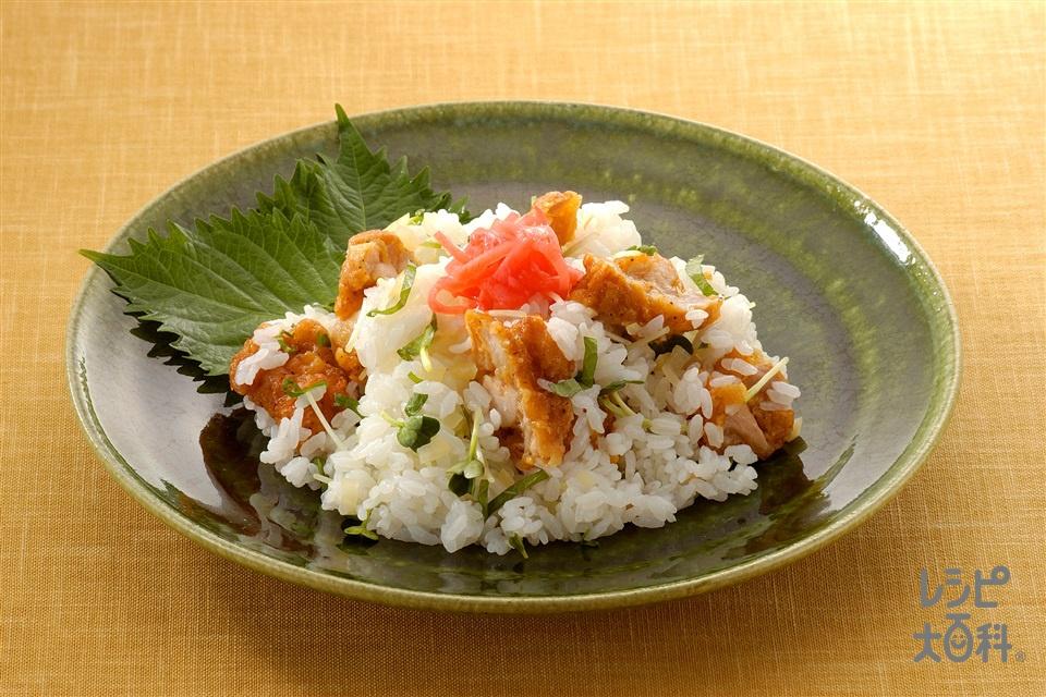から揚げずし(ご飯+貝割れ菜を使ったレシピ)