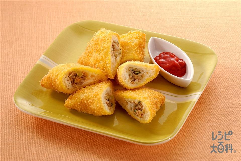 ギョーザ入り揚げパン(サンドイッチ用食パン+パン粉を使ったレシピ)