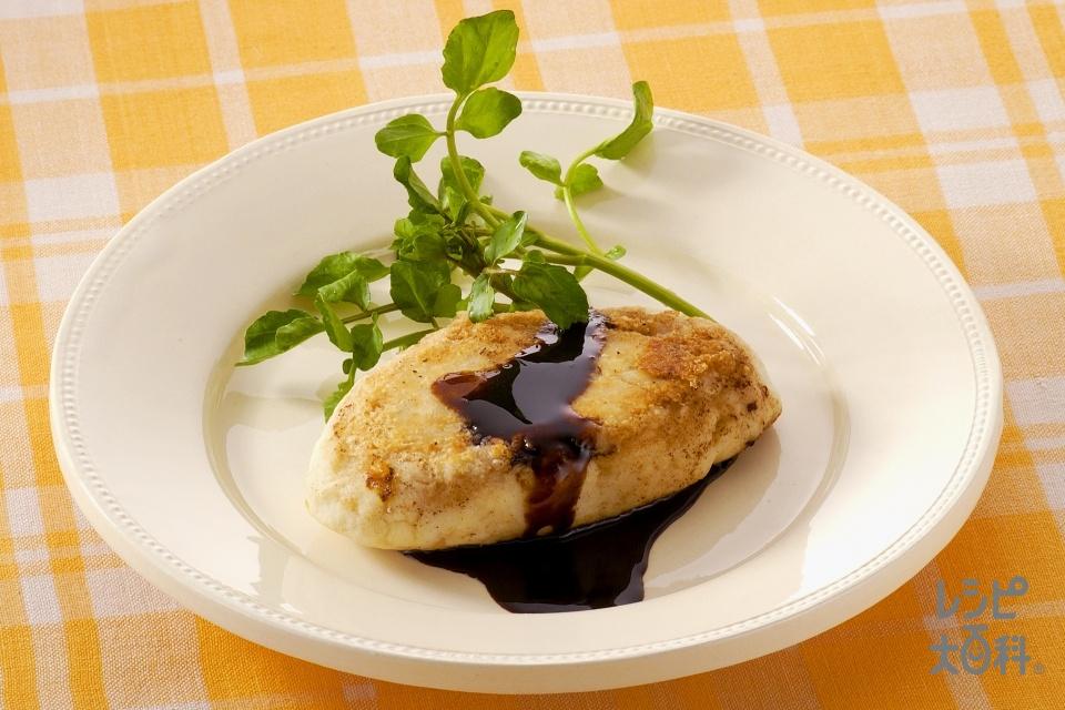 里いものステーキ バルサミコソース(冷凍里いも+「瀬戸のほんじお」を使ったレシピ)