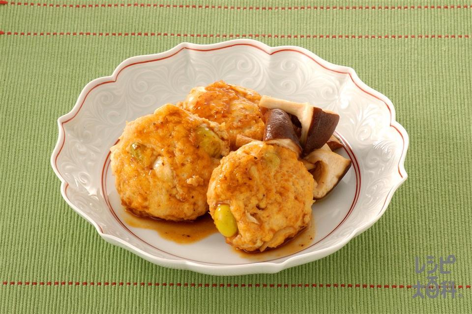 ゆり根の和風ハンバーグ(木綿豆腐+鶏ひき肉を使ったレシピ)