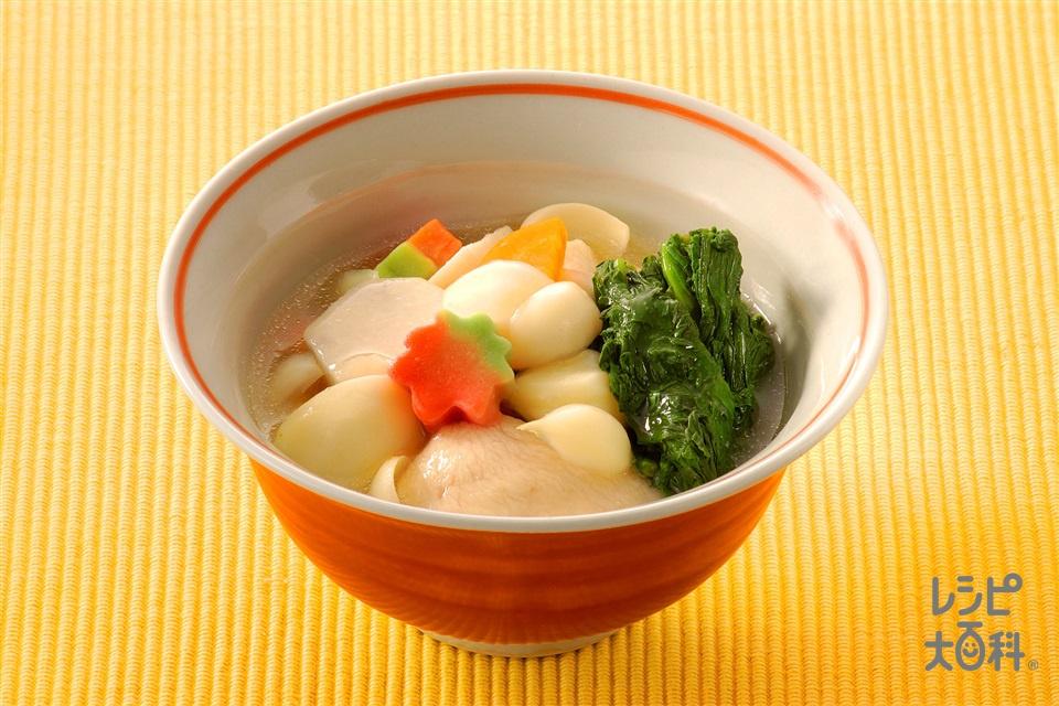 ゆり根入りの具だくさんトロミ汁(ゆり根+鶏むね肉を使ったレシピ)