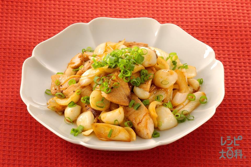 ゆり根とぶりのオイスターソース炒め(ぶり+長ねぎを使ったレシピ)