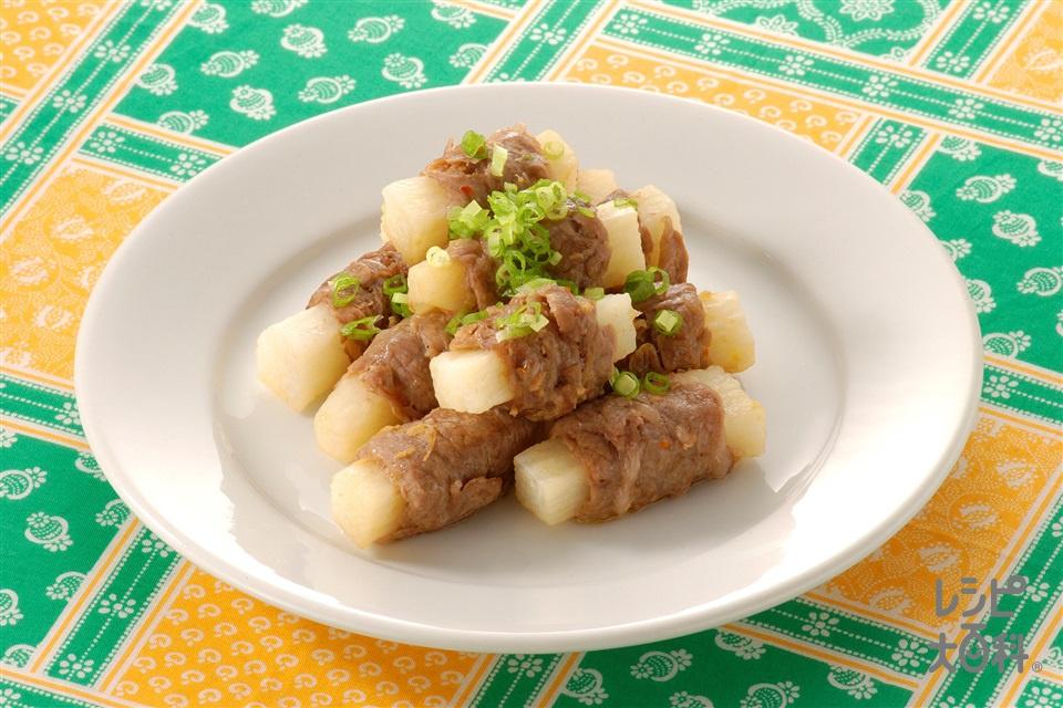 長いもの牛肉巻き(長いも+牛バラ薄切り肉を使ったレシピ)