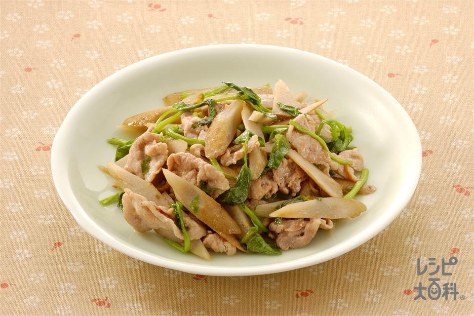 ごぼうと豚肉の和風炒めもの(ごぼう+豚こま切れ肉を使ったレシピ)