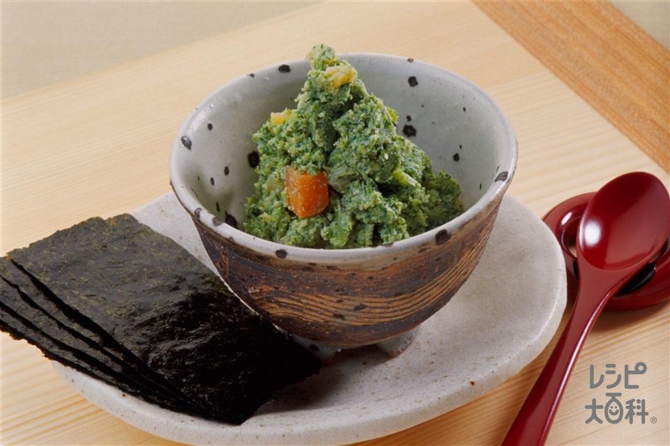 ブロッコリーのずんだあえ風(木綿豆腐+にんじんを使ったレシピ)