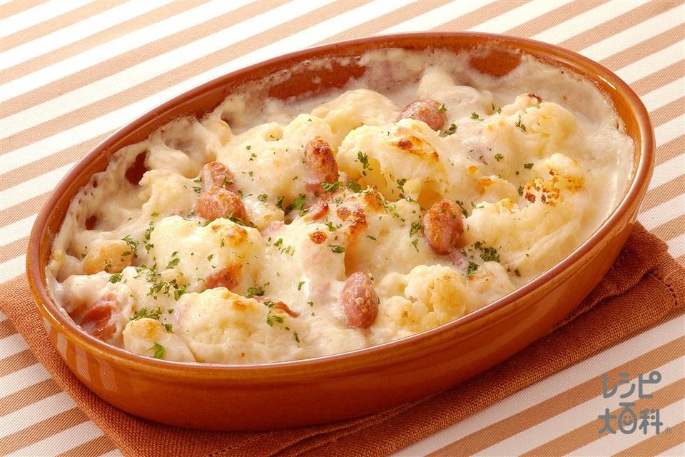 豆カリグラタン(カリフラワー+牛乳を使ったレシピ)