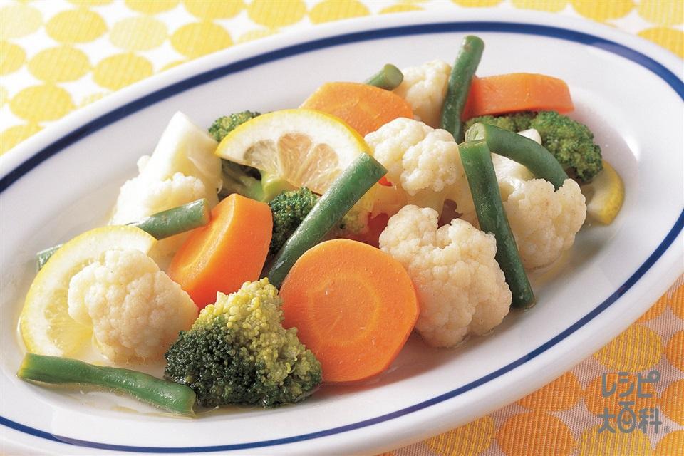 カクテル野菜のホットサラダ(にんじん+カリフラワーを使ったレシピ)