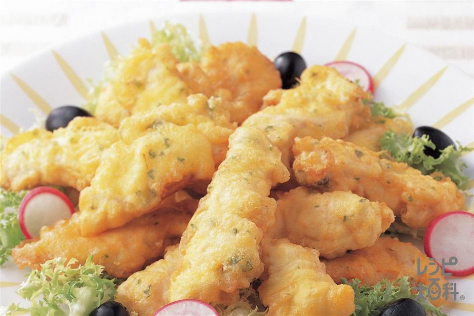イタリアンから揚げ(鶏むね肉+A天ぷら粉を使ったレシピ)