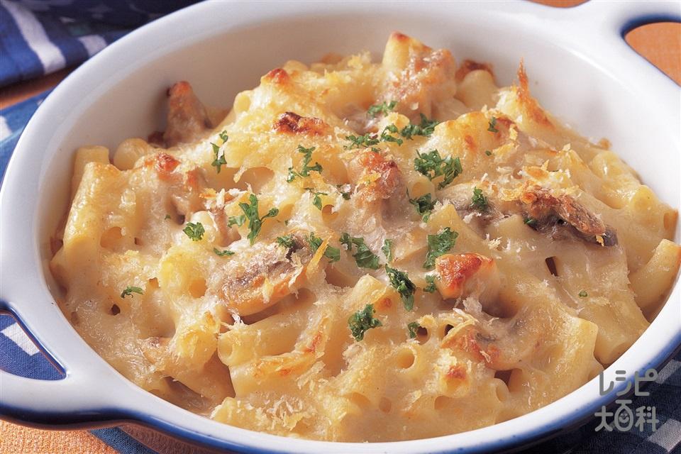 チキンマカロニグラタン(鶏もも肉+マカロニを使ったレシピ)