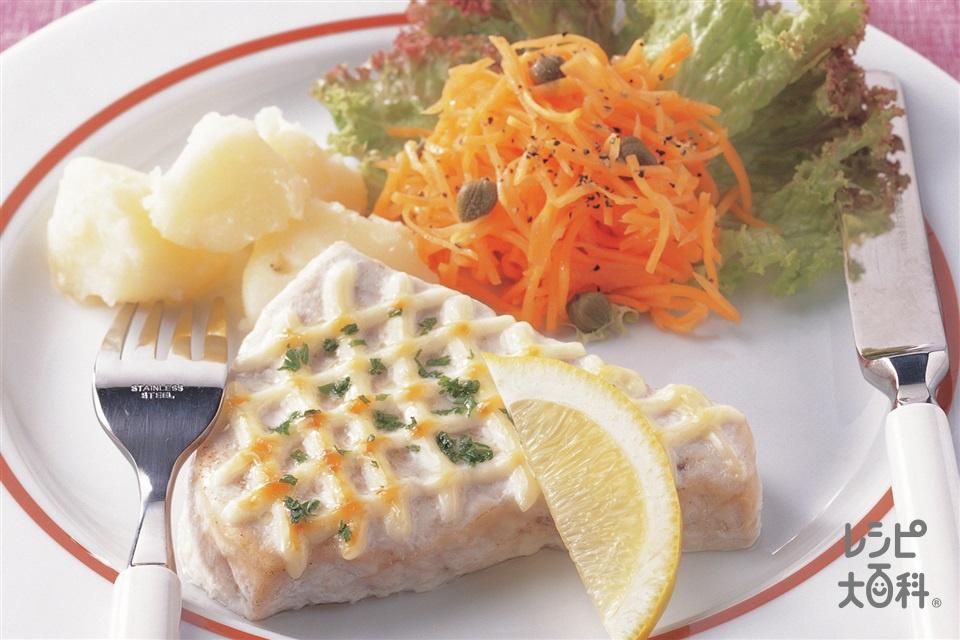かじきのマヨネーズ焼き(かじき+じゃがいもを使ったレシピ)