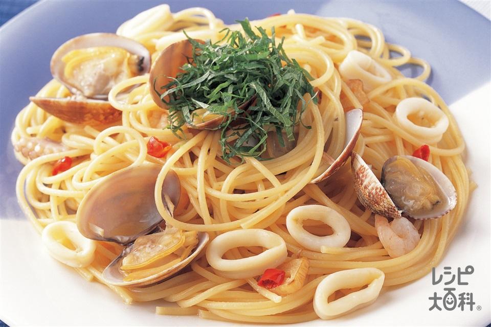和風シーフードスパゲッティ(スパゲッティ+あさりを使ったレシピ)