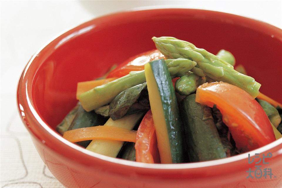 中国風ホットサラダ(きゅうり+トマトを使ったレシピ)