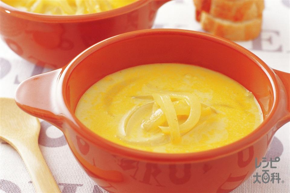 玉ねぎのカレーミルクスープ(玉ねぎ+にんにくを使ったレシピ)