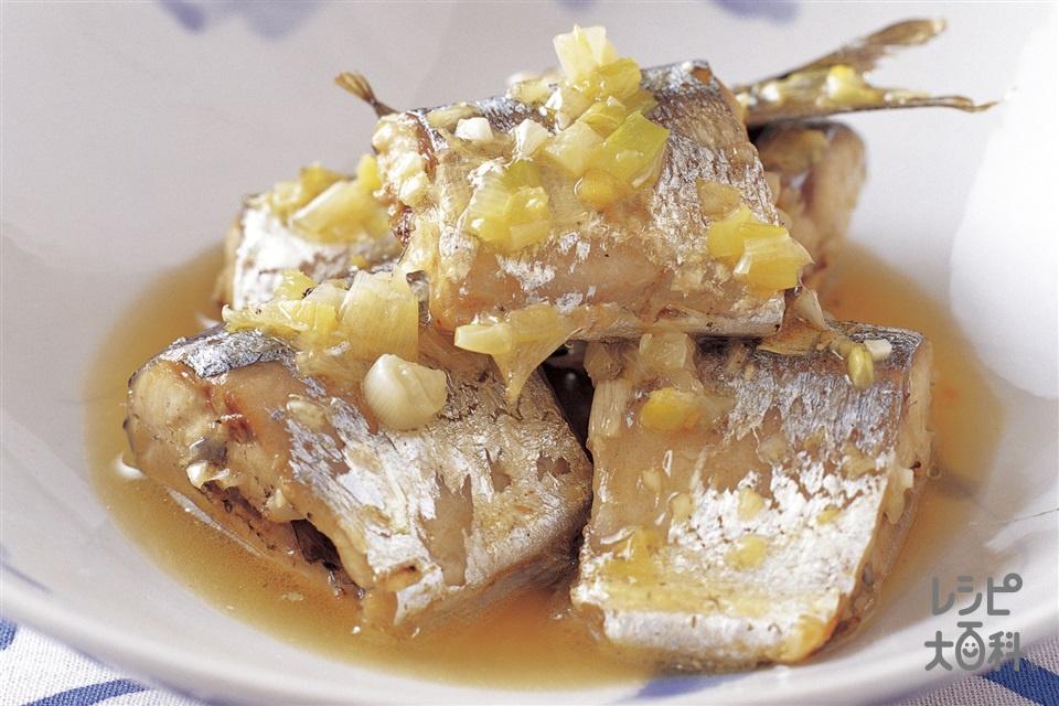 さんまの中国風煮(さんま+「AJINOMOTO ごま油好きのごま油」を使ったレシピ)