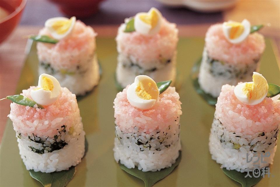 3色押しずし(米+A米酢を使ったレシピ)