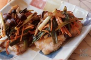 鶏肉の野菜焼き(鶏もも肉+しめじを使ったレシピ)