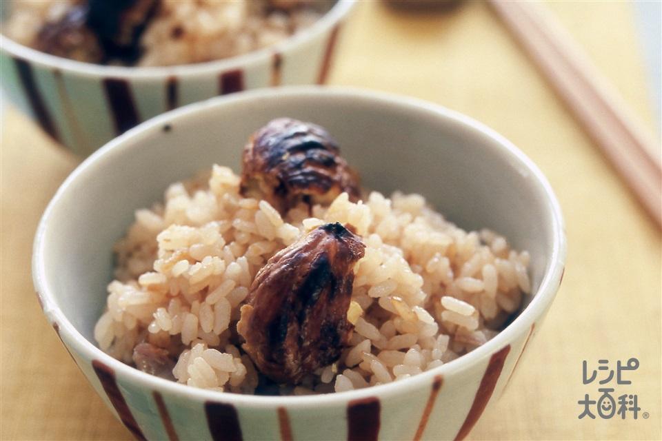 焼き栗ご飯(米+栗を使ったレシピ)