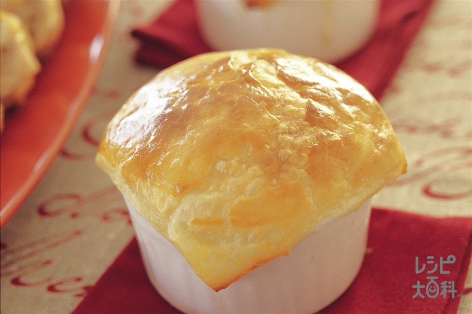 クリームスープパイ(しめじ+マッシュルームを使ったレシピ)