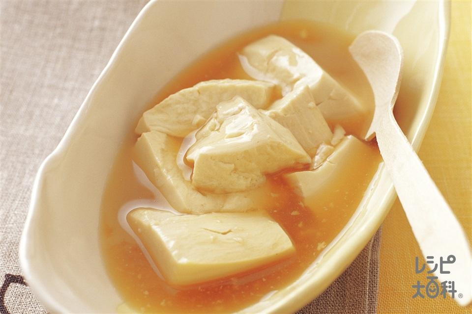 豆腐の薄くず煮(絹ごし豆腐+A「ほんだし」を使ったレシピ)