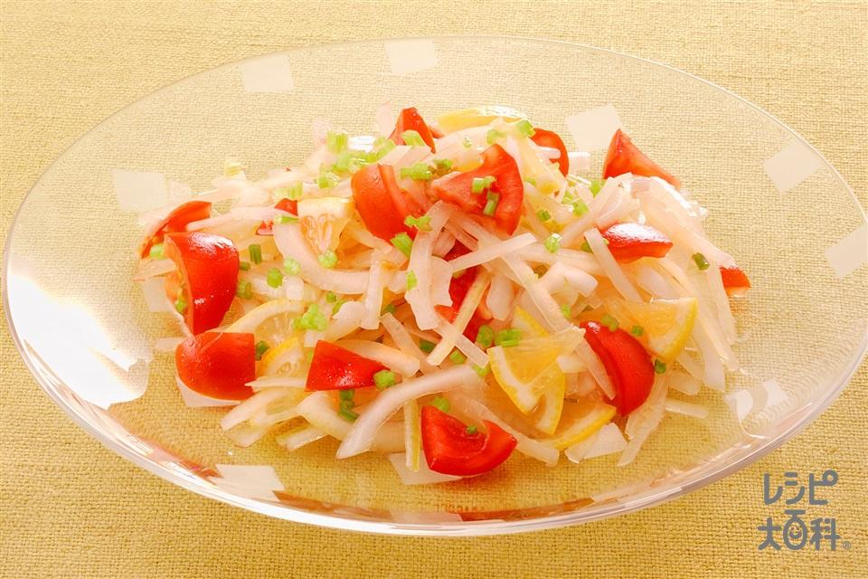 玉ねぎとトマトのレモンサラダ(玉ねぎ+トマトを使ったレシピ)
