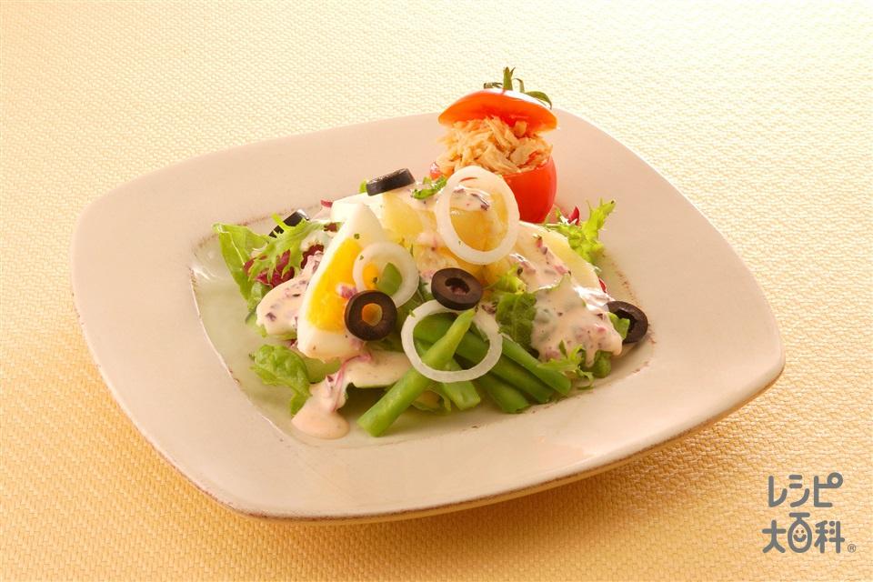 ニース風サラダ しば漬けマヨネーズ(じゃがいも+トマトを使ったレシピ)