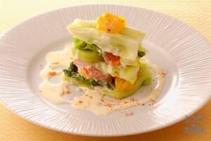 キャベツのミルフィユサラダ