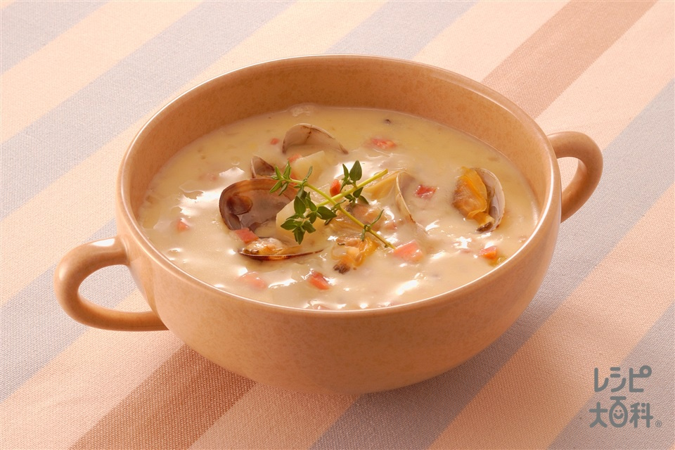 豆乳とあさりのチャウダー(あさり+豆乳を使ったレシピ)