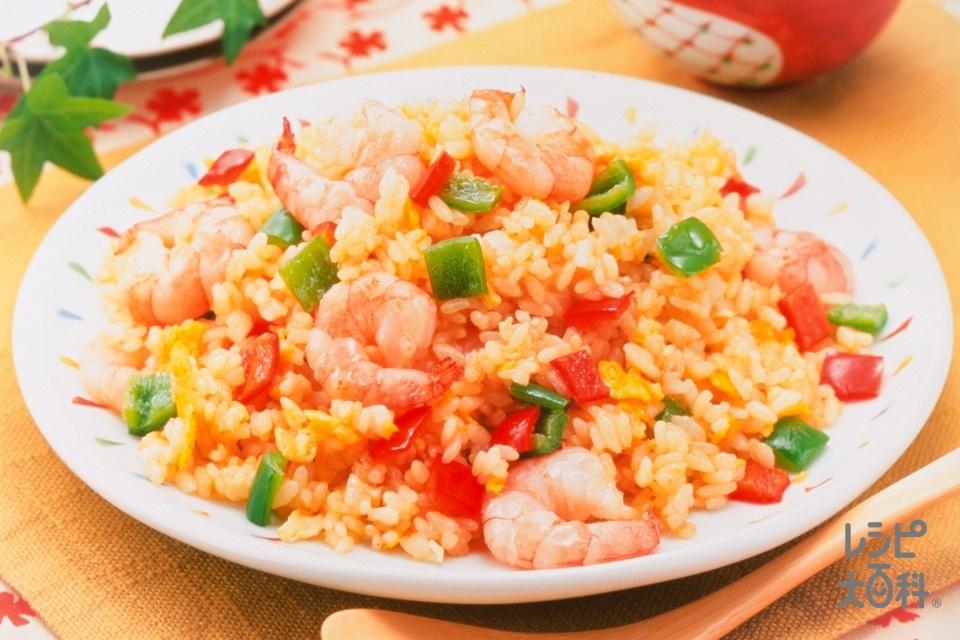 だし香る「ほんだし」チャーハン(ご飯+むきえび(小)を使ったレシピ)