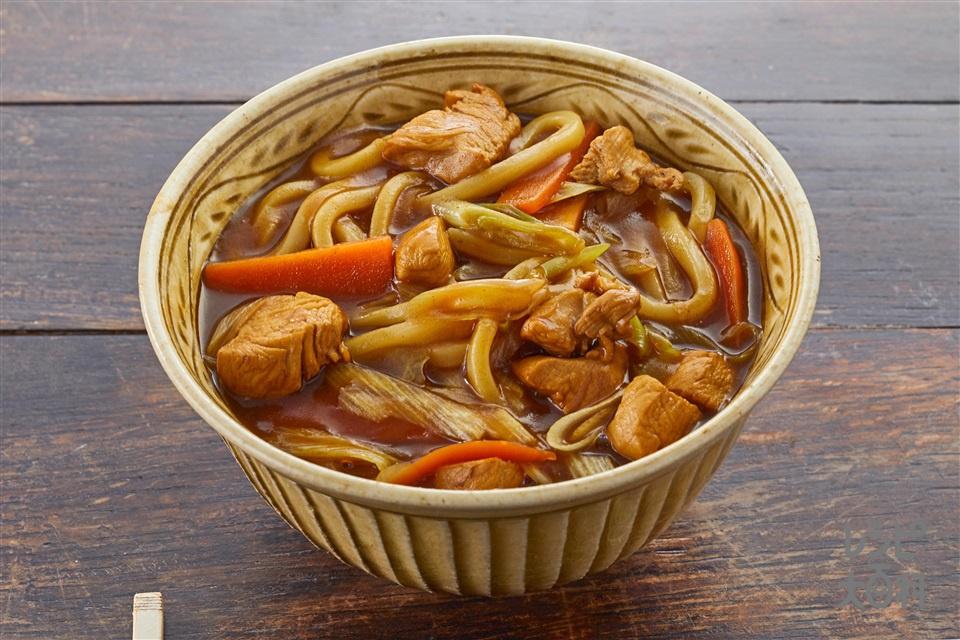 基本のカレーうどん(ゆでうどん+鶏もも肉を使ったレシピ)