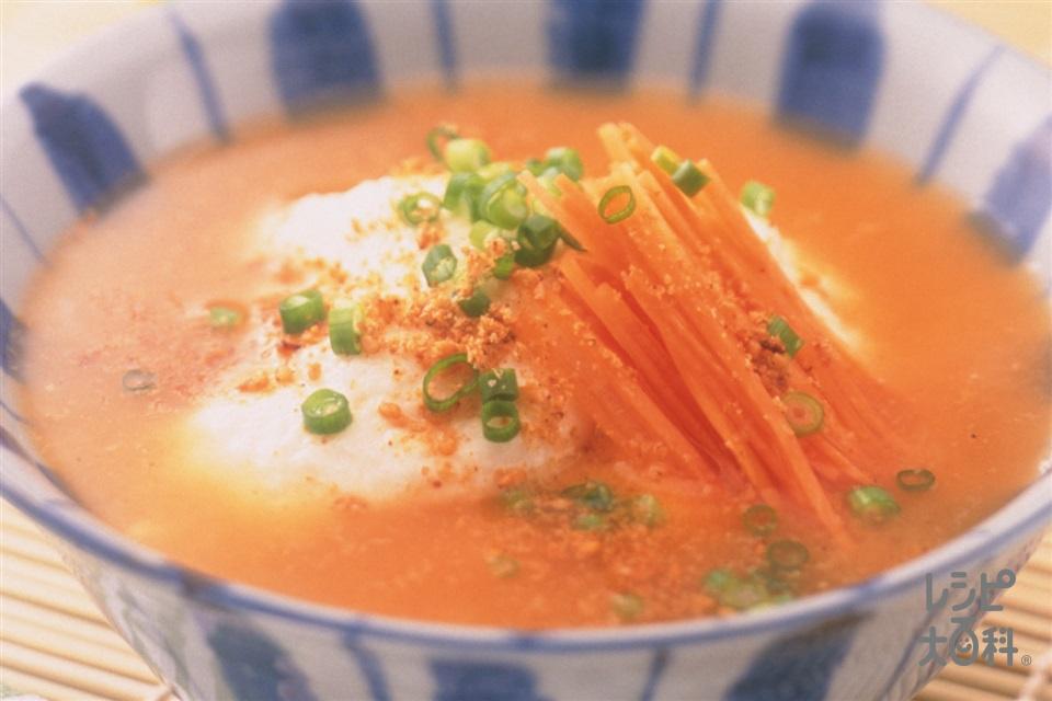 長いもとにんじん・小ねぎの冷やし汁(長いも+にんじんを使ったレシピ)