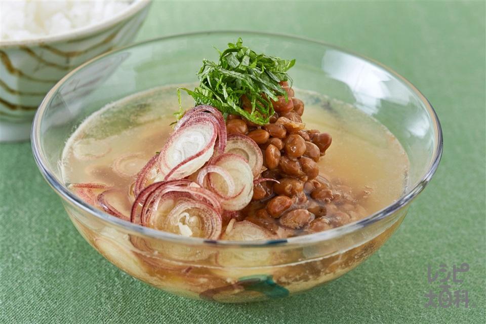 納豆とみょうが・青じその冷やし汁(納豆+みょうがを使ったレシピ)