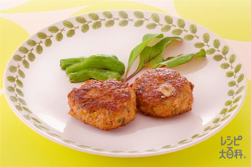 ブルーチーズ入りハンバーグ(牛ひき肉+パン粉を使ったレシピ)