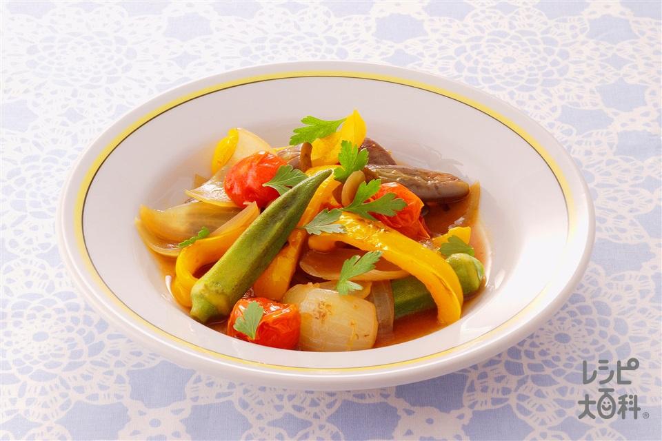 アジア風ラタトゥイユ(玉ねぎ+ミニトマトを使ったレシピ)