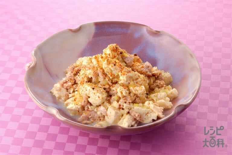 豆腐と鶏ひき肉のさっぱり炒め