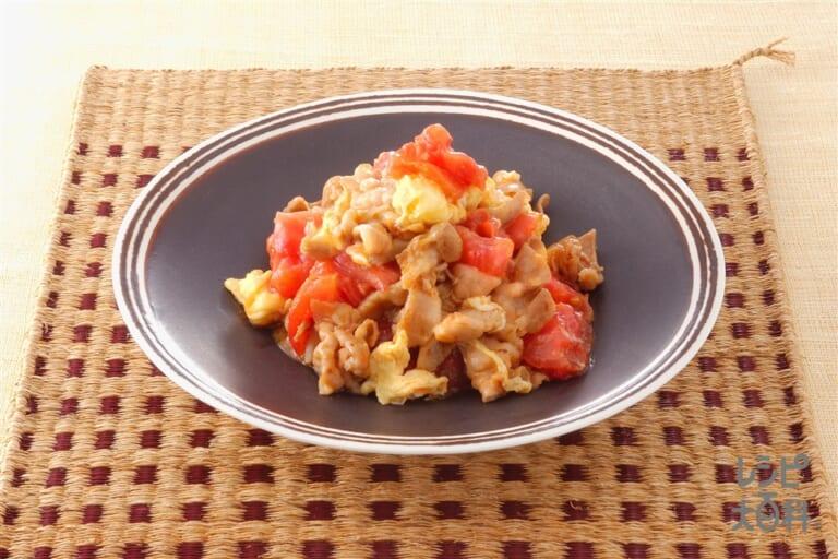 トマトと豚肉と卵の炒めもの