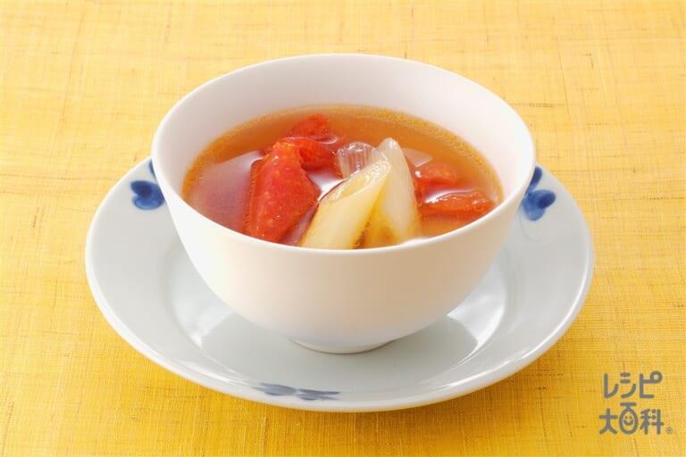 トマトの和風スープ