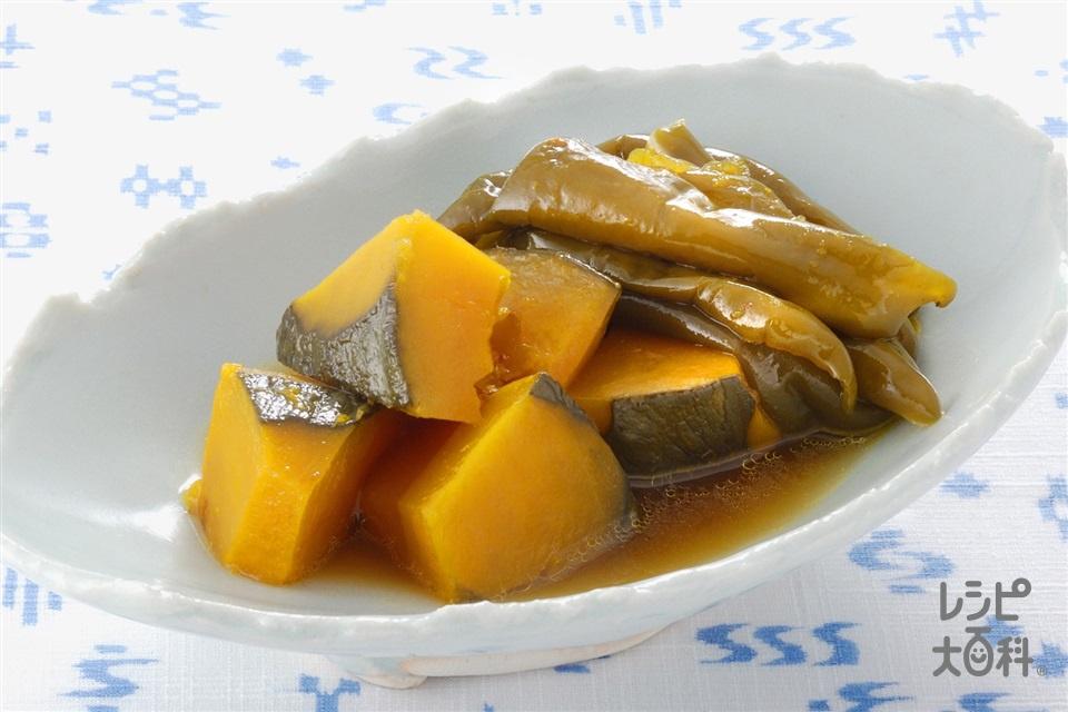 かぼちゃとピーマンの炒め煮(かぼちゃ+ピーマンを使ったレシピ)